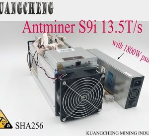Buy 85~95% new old minerFree Shpping AntMiner S913.5T Asic miner of BTC BCH 16nm Bitmain Mining Machine form KUANGCHENG