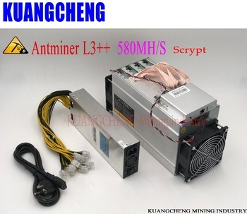 Buy ANTMINER L3++ LTC 580M 942W With PSU scrypt miner LTC Mining Machine Optimized and upgraded version of ANTMINER L3+