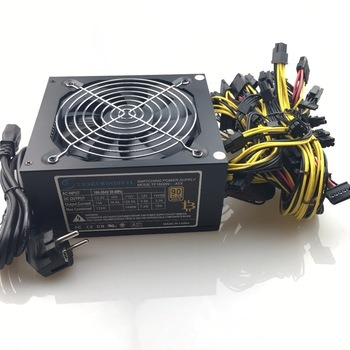Buy free ship 1600w computer power supply mining rig antminer pico psu asic bitcoin miner for rx 470 rx 580 rx 570 rx480 atx btc