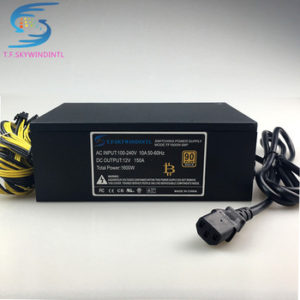 Buy free ship 1600W psu for antminer s9 S7 A6 A7 S7 S9 L3 L3+ BTC miner machine server pc power supply for bitcoin miner power cable
