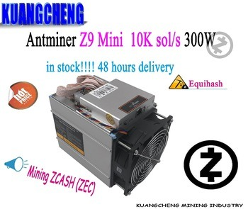 Buy KUANGCHENG 80-90% new  Antminer Z9 mini 10k sol/s Z9 miner no psu ASIC Equihash Mining machine ZCASH Can be overclocked to 12K/S