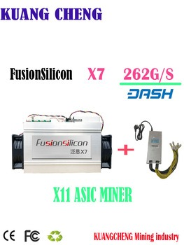 Buy Newest DASH miner FusionSilicon X7 Miner 262GH/S 1420W X11 algorithm with Original psu for MUE CANN Better than Antminer D5 D3