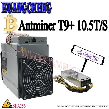 Buy only 80-90% new AntMiner T9+ 10.5T miner 16nm BTC Bitcoin Mining machine from bitmain T9 plus 10.5Th/s
