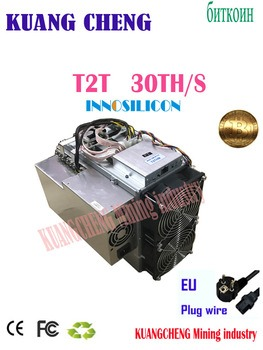 Buy USED OLD Innosilicon T2T 30T sha256 asic miner T2 Turbo 30Th/s bitcoin BTC Mining machine with psu Better Than Antminer S9 z9 b7