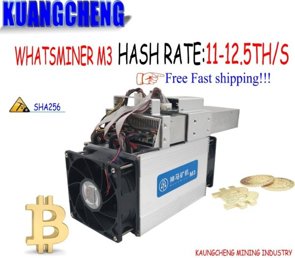 Buy used old Asic Miner Bitcoin Miner WhatsMiner M3X 11.5-12.5T/S Better Than Antminer S7 S9 WhatsMiner M3 With PSU For BTC BCH