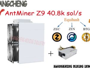 Buy old 90% new  asic ANGCHENG AntMiner Z9 42k sol/s with PSU Equivalent to four Antminer z9 mini can dig ZEC ZEN BTG BTc coins