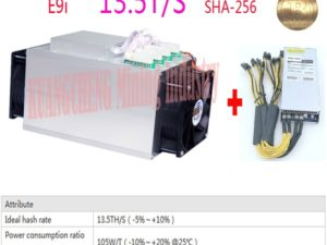 Buy old 80-90% Bitcoin SHA256 ASIC Btc BCH Miner Ebit E9i 13.5T With PSU Low price than Antminer S9 S9j T9+ S11 Z9 z11 M3 12t  11.5T