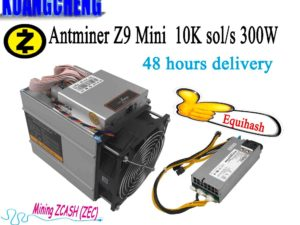 Buy KAUNGCHENG old ZCASH Asic Antminer Z9 Mini 10k (with psu) BITMAIN z9 zec BTC Miner on Equihash nicehash Deliver DHL ems no tax