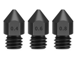 Купить 1 Pieces 3D Printer Super Hard Hardening Steel Wear-resist 0.4/0.6/0.8 Extruder Print Head For 1.75mm MK8 Makerbot цена вас порадует