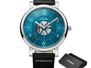 Купить Sinobi 2021 Creative Hollow Design Men's Watches Luminous Real Leather Waterproof Sport Automatic Quartz Clock Relogio Masculino цена вас порадует