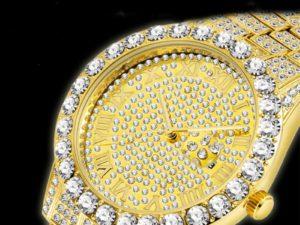 Купить Luxury Hip Hop Iced Out Watch Gold Sliver Diamond Watch Top Brand for Men Quartz Wristwatch Relogio Masculino Men Watches Reloj цена вас порадует