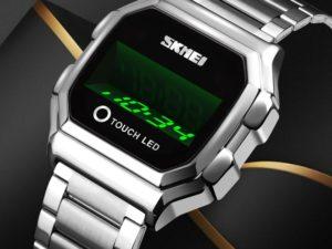 Купить SKMEI Top Luxury Brand Men Watch LED Watch Creative Digital Touch Watches Stainless Steel Man Wristwatches Relogio Masculino New цена вас порадует
