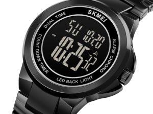 Купить SKMEI Mens Digital Wristwatches 2 Time Stopwatch Men Sport Watch Fashion LED Men Watches Waterproof Hour relogio masculino 1712 цена вас порадует