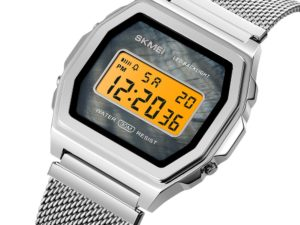 Купить SKMEI Fashion Japan Digital movement Sport Watch Men 3Bar Waterproof Watches Stainless Steel Strap Clock Watch reloj hombre 1806 цена вас порадует