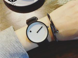 Купить 2019 Minimalist style creative wristwatches BGG black & white new design Dot and Line simple stylish quartz fashion watches gift цена вас порадует