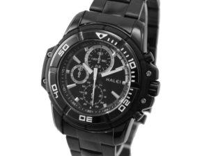 Купить ALEXIS New Black Dial Black Stainless Steel Band Round Black Watchcase Mens Quartz Watch FW872A цена вас порадует